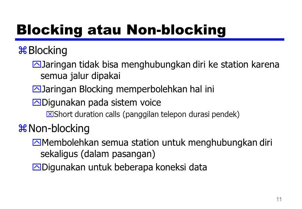 Blocking atau Non-blocking