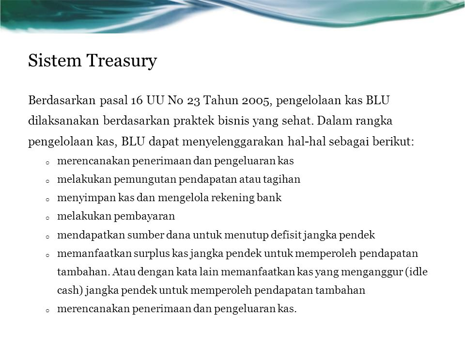 Sistem Treasury