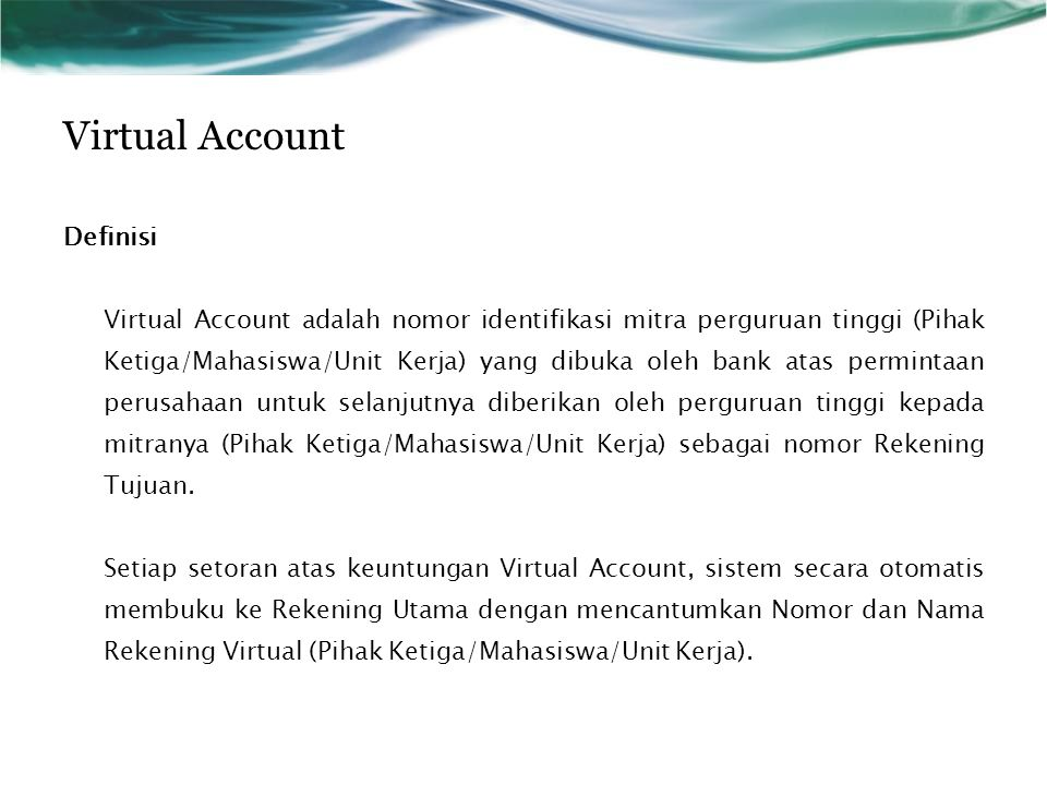 Virtual Account Definisi