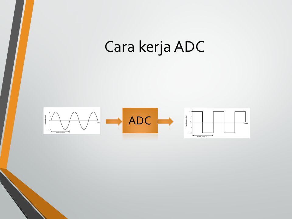 Cara kerja ADC ADC