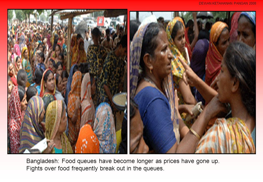 Bangladesh: Food queues have become longer as prices have gone up