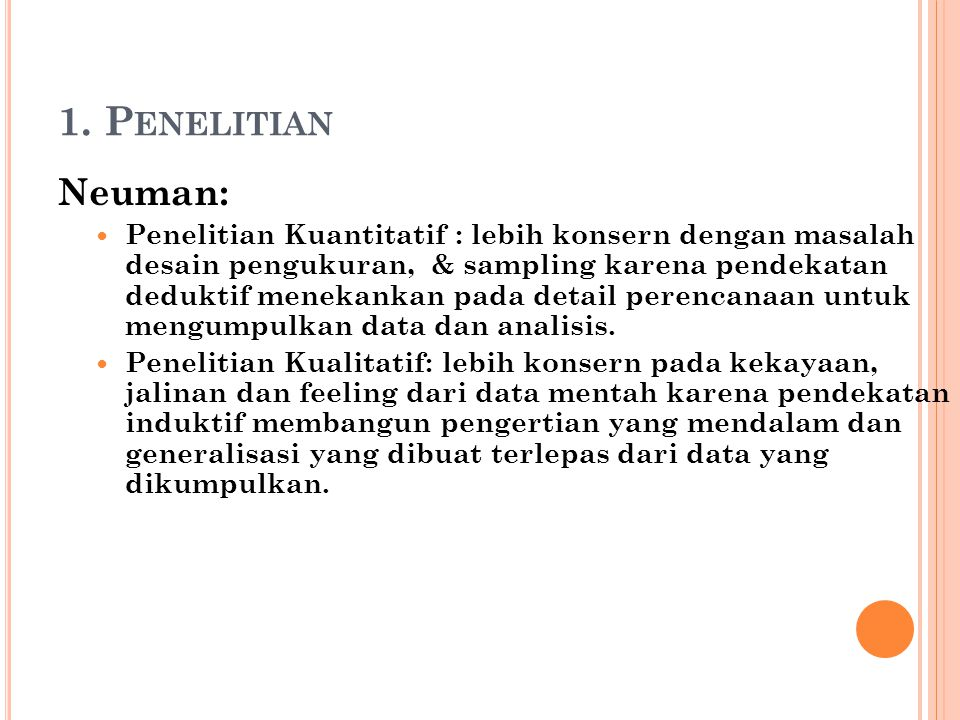 1. Penelitian Neuman: