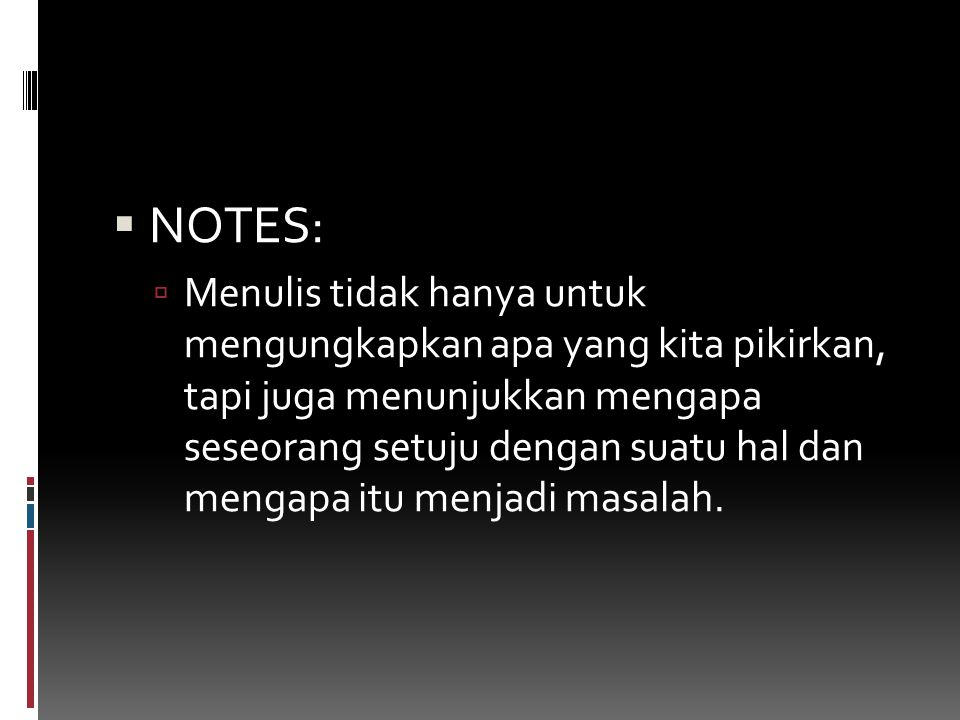 NOTES: