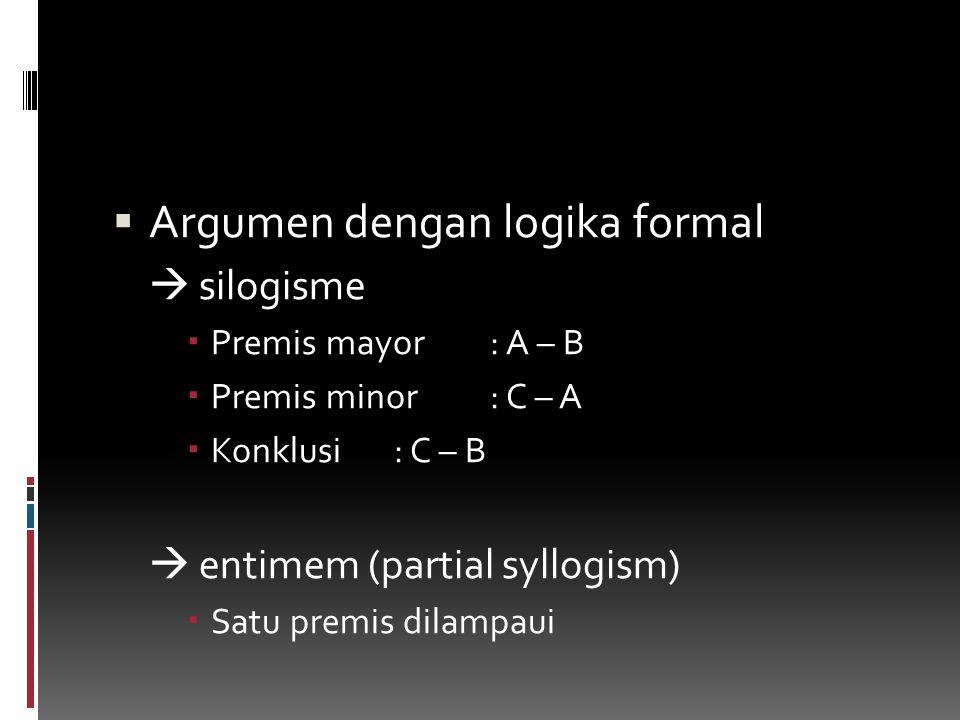 Argumen dengan logika formal