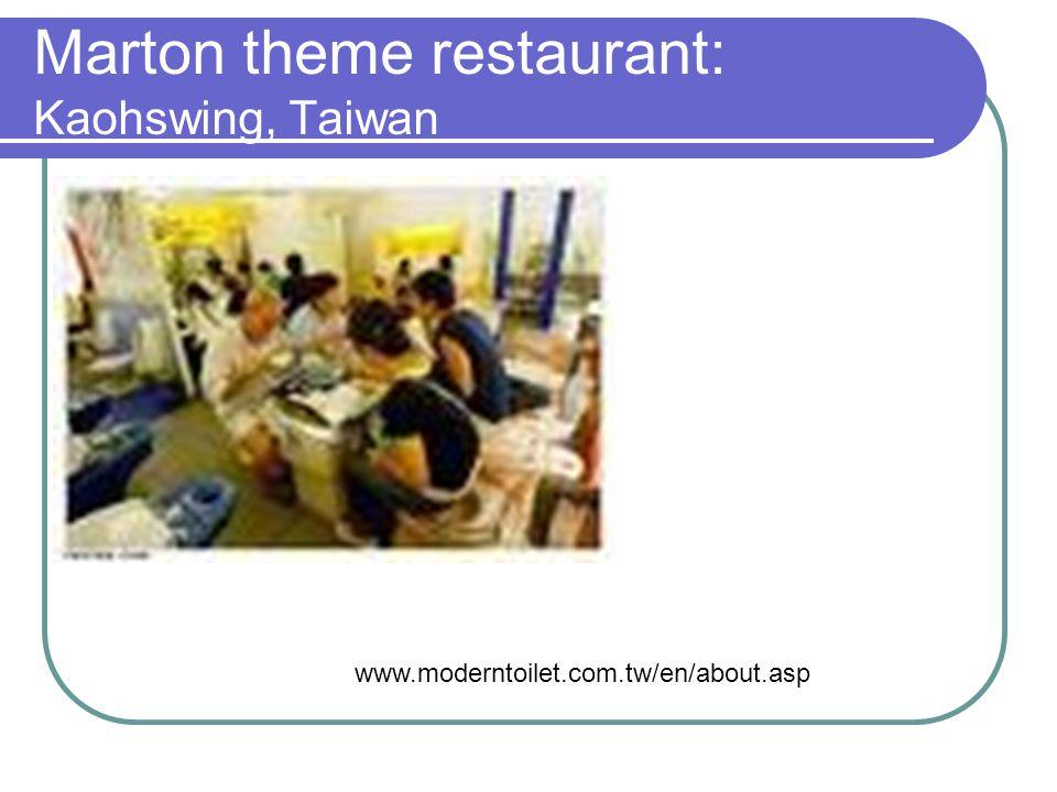 Marton theme restaurant: Kaohswing, Taiwan