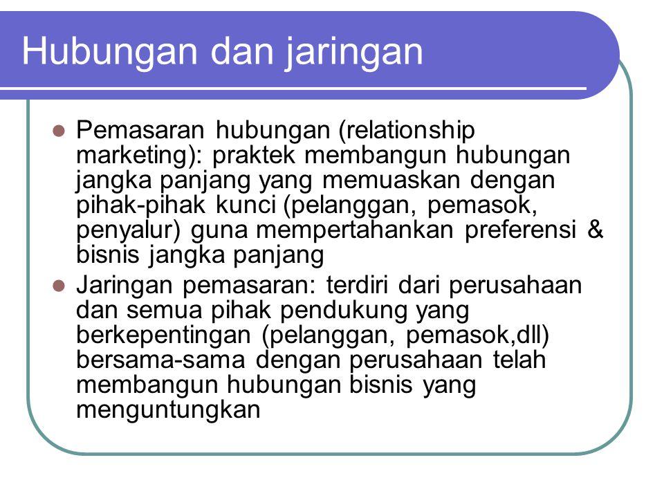 Hubungan dan jaringan