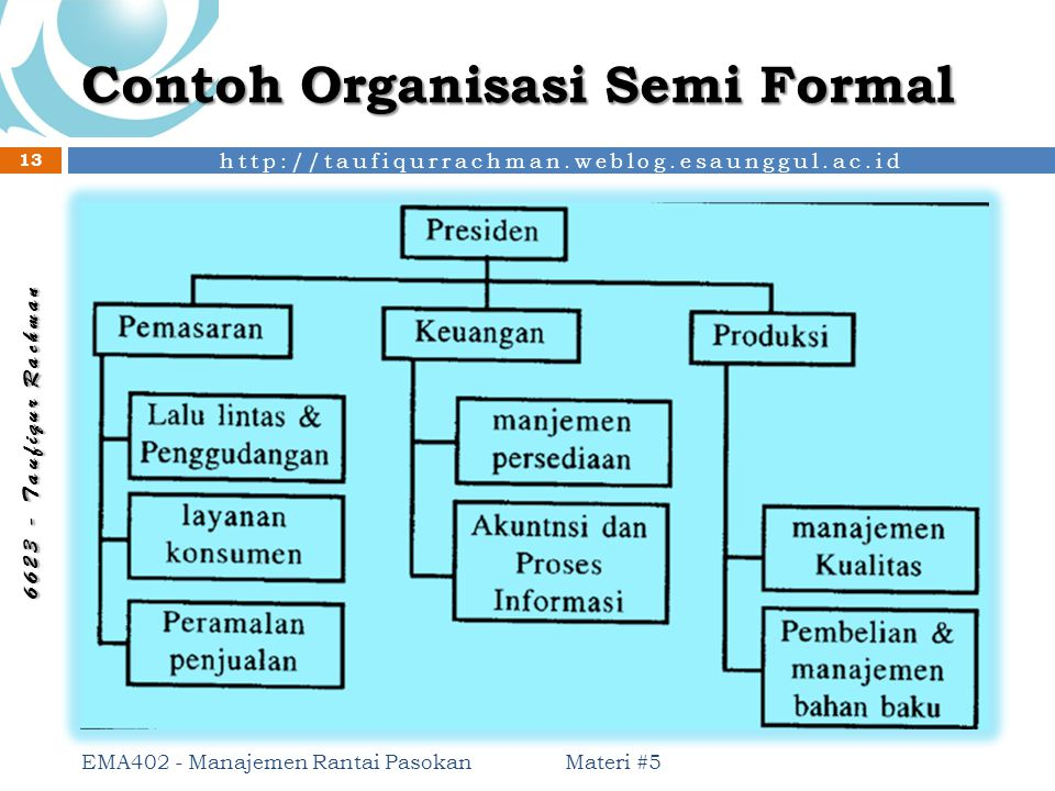 Contoh Organisasi Semi Formal