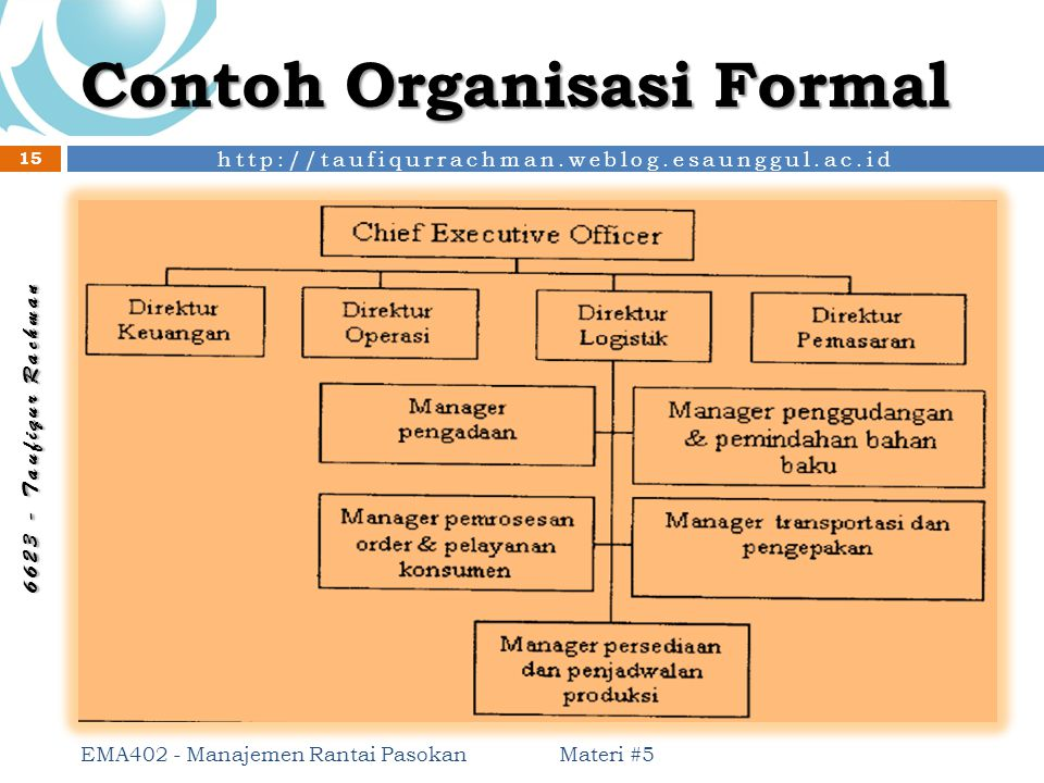 Contoh Organisasi Formal