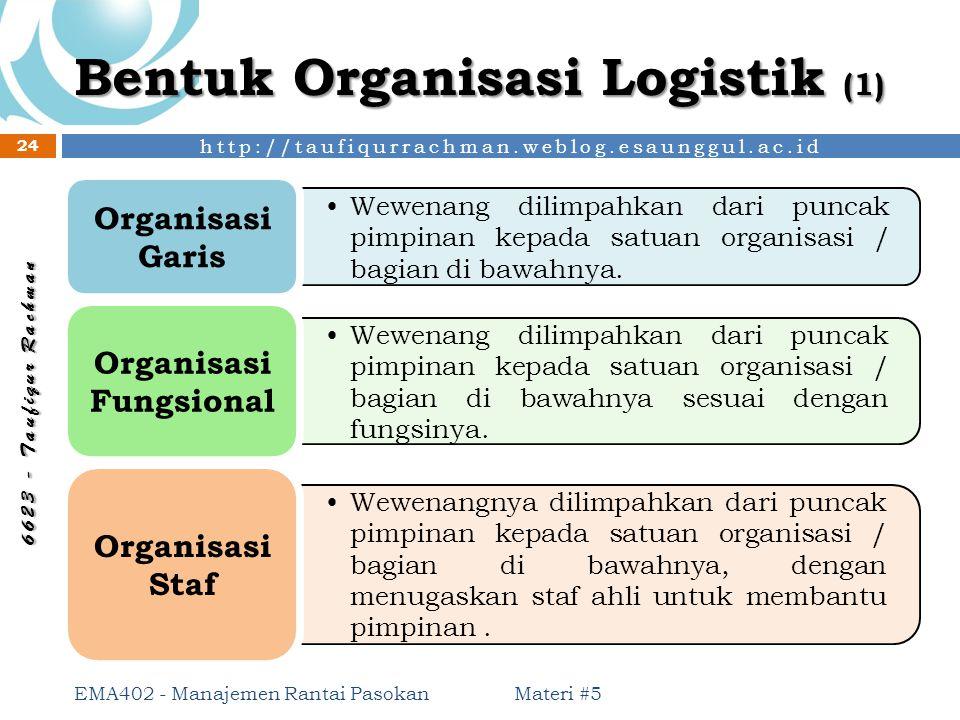 Bentuk Organisasi Logistik (1)