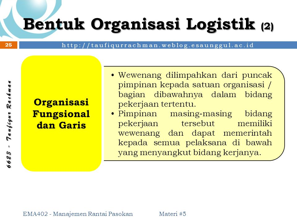 Bentuk Organisasi Logistik (2)