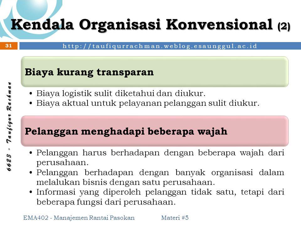 Kendala Organisasi Konvensional (2)