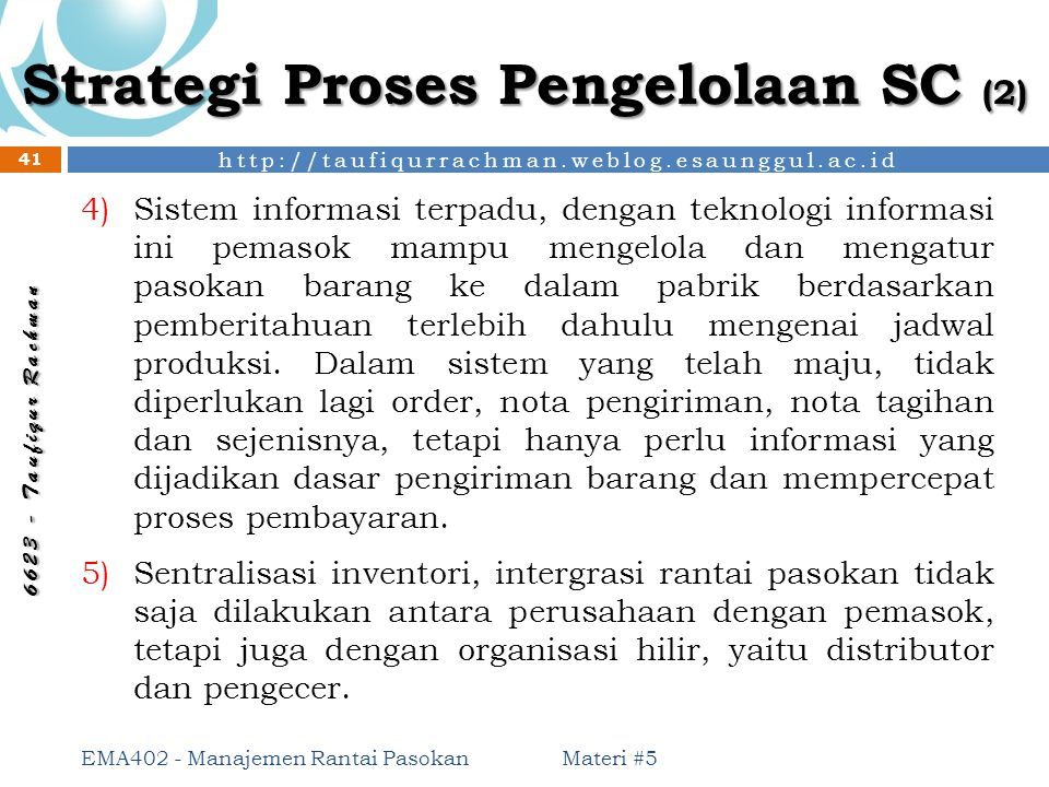 Strategi Proses Pengelolaan SC (2)