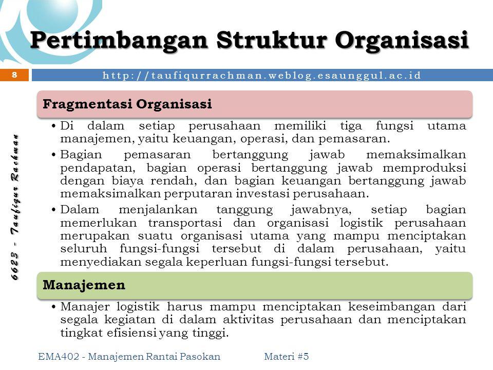 Pertimbangan Struktur Organisasi