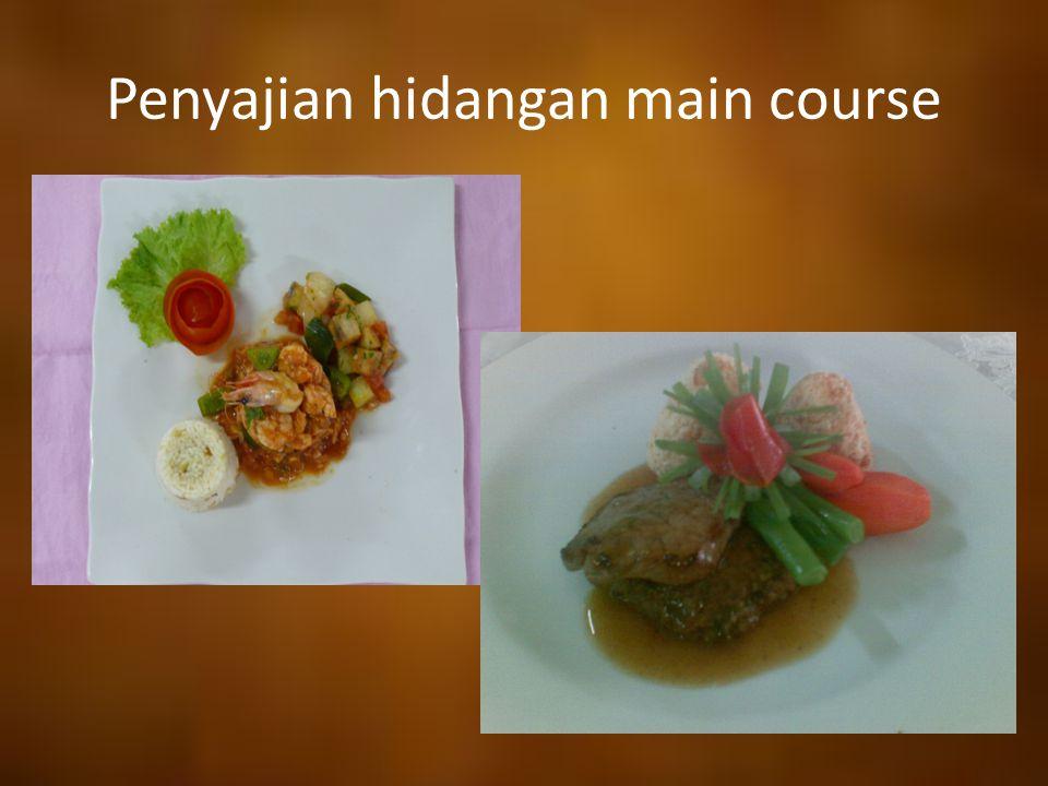 Penyajian hidangan main course