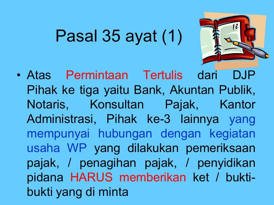 Pasal 35 ayat (1)