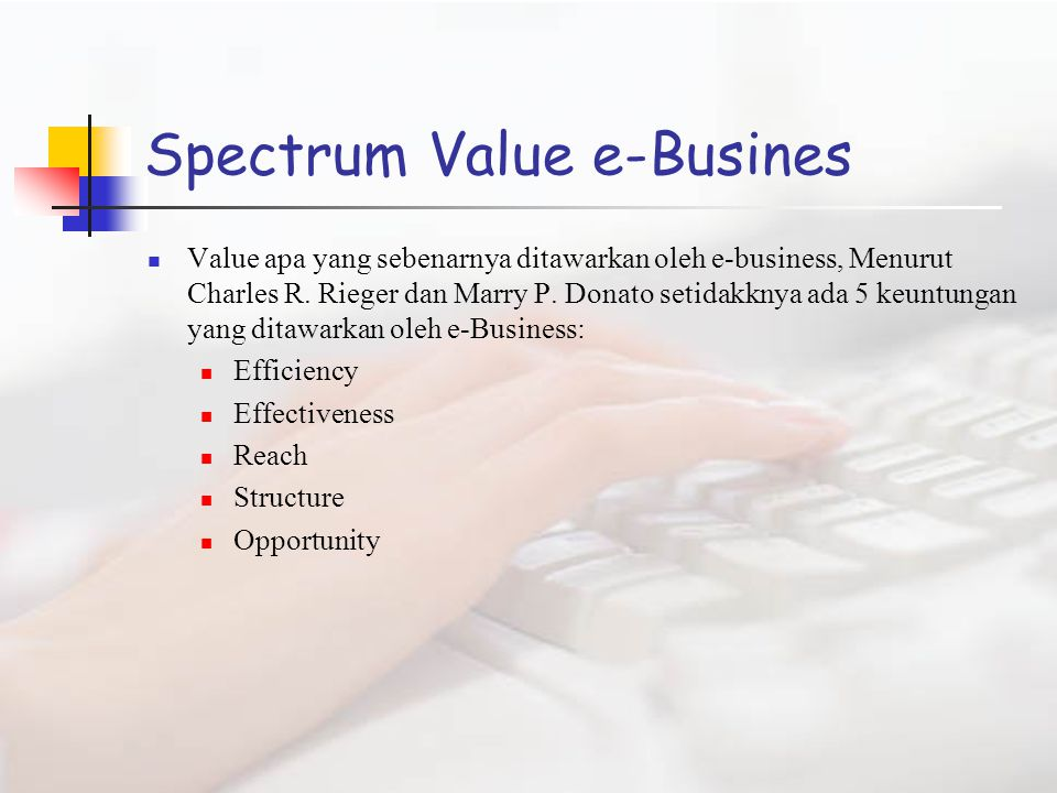 Spectrum Value e-Busines