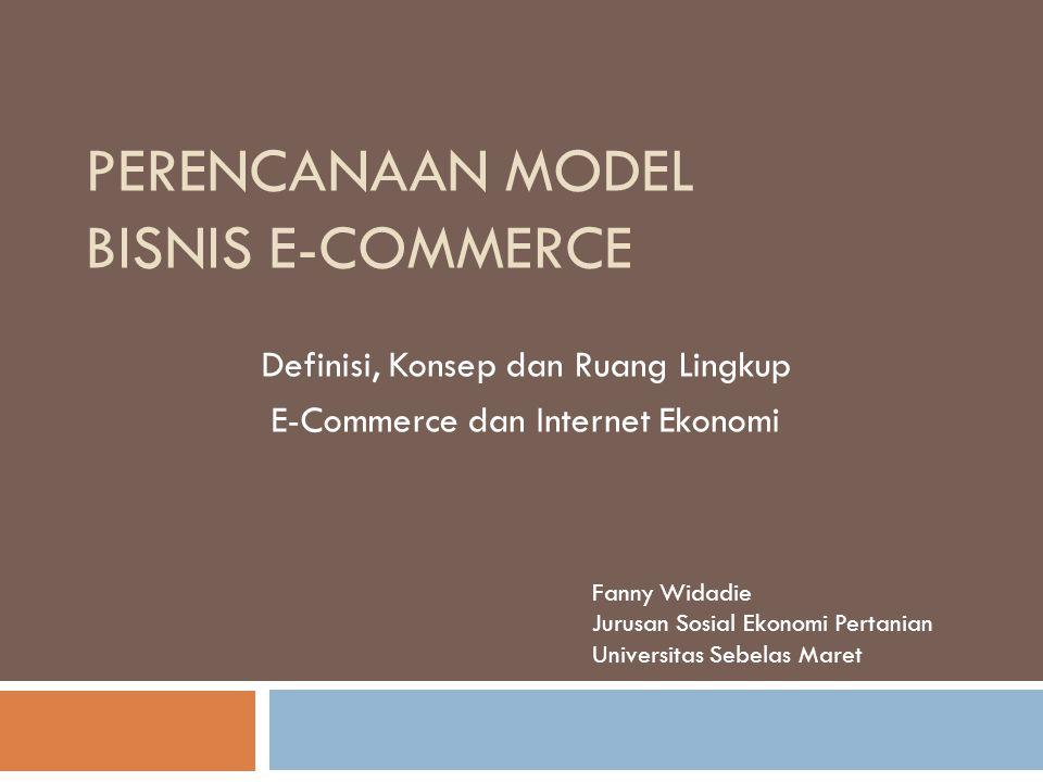 Perencanaan Model Bisnis E-Commerce