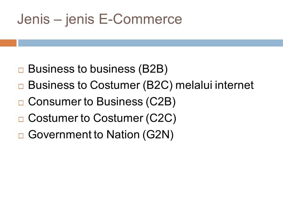Jenis – jenis E-Commerce