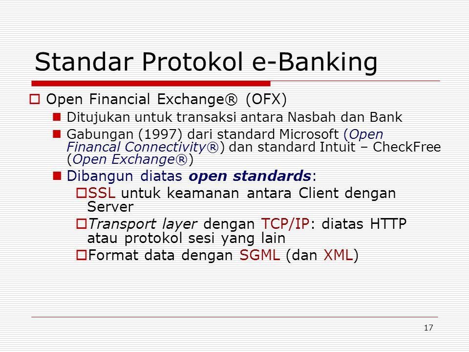 Standar Protokol e-Banking