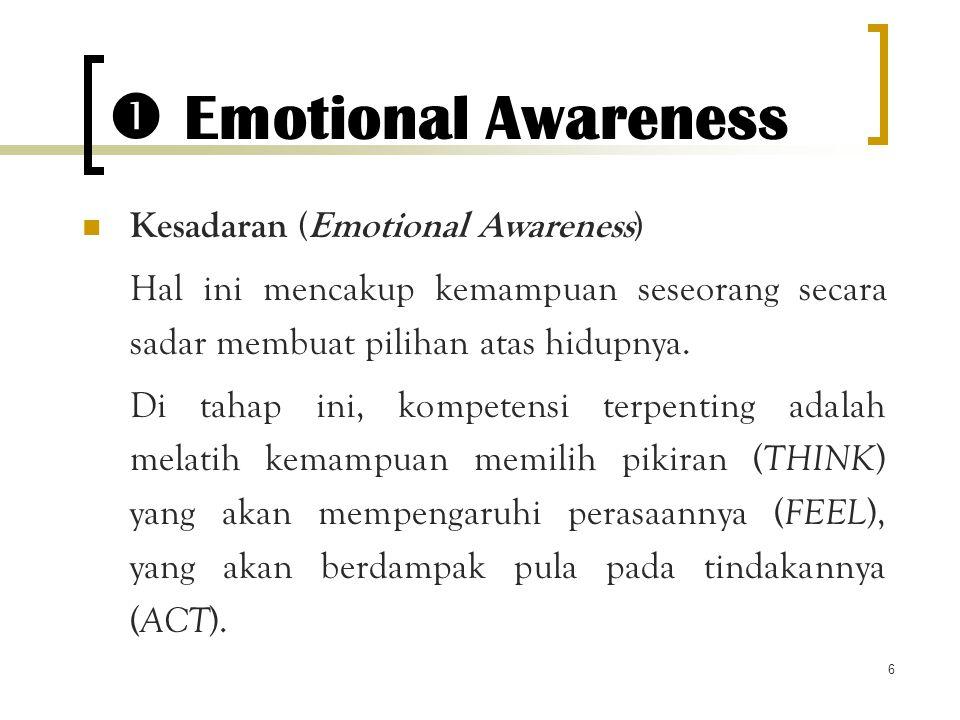  Emotional Awareness Kesadaran (Emotional Awareness)