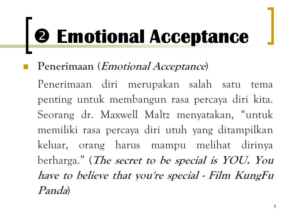  Emotional Acceptance