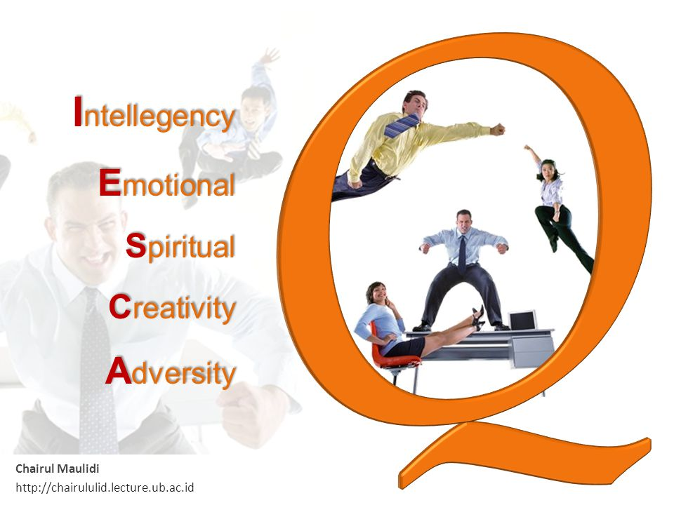 Intellegency Emotional Spiritual Creativity Adversity