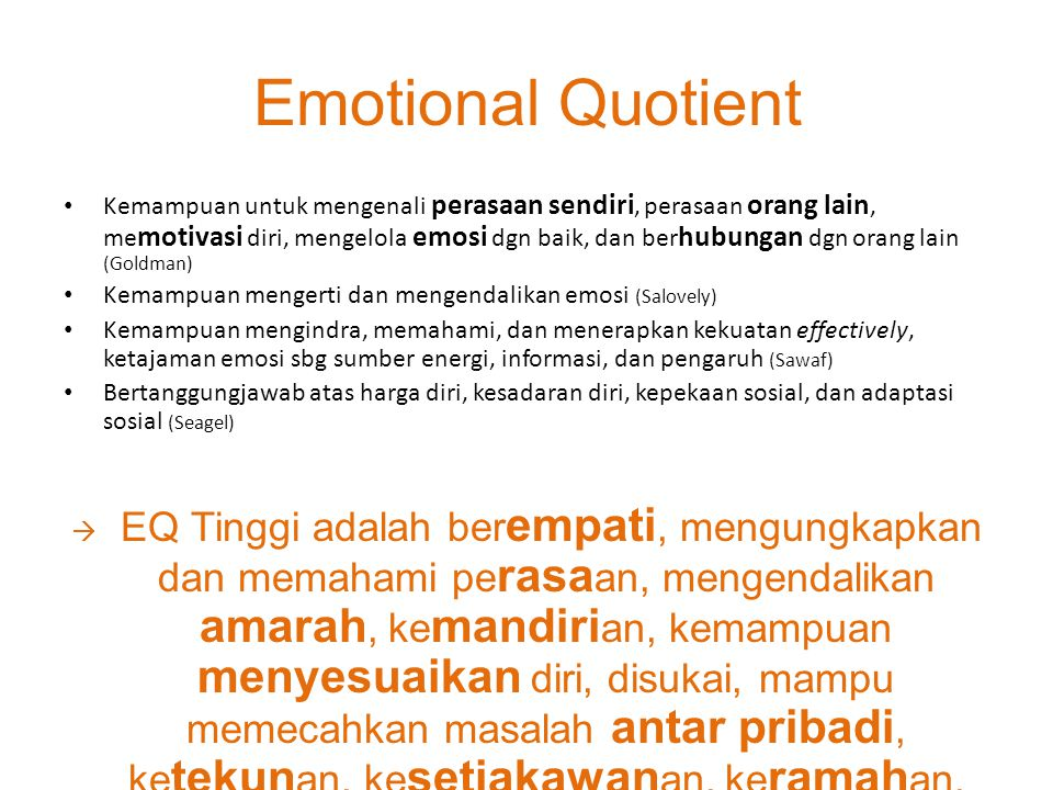 Emotional Quotient