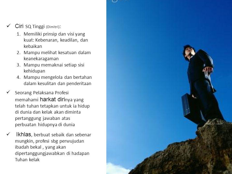 Ciri SQ Tinggi (Dimitri):