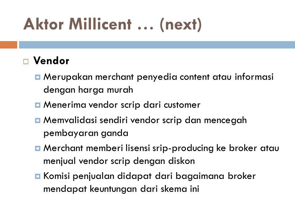 Aktor Millicent … (next)