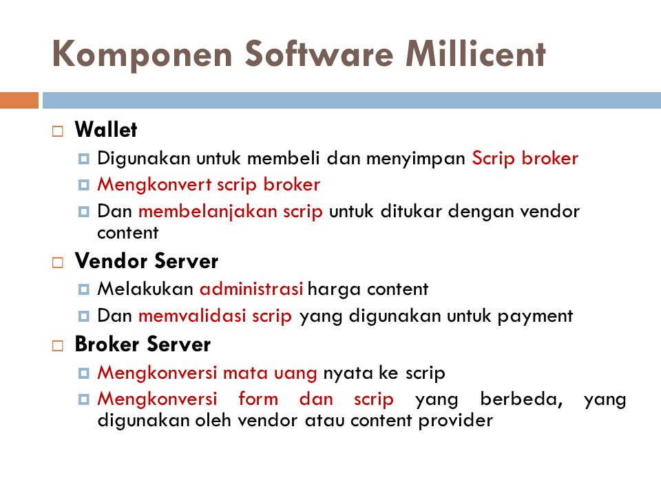 Komponen Software Millicent