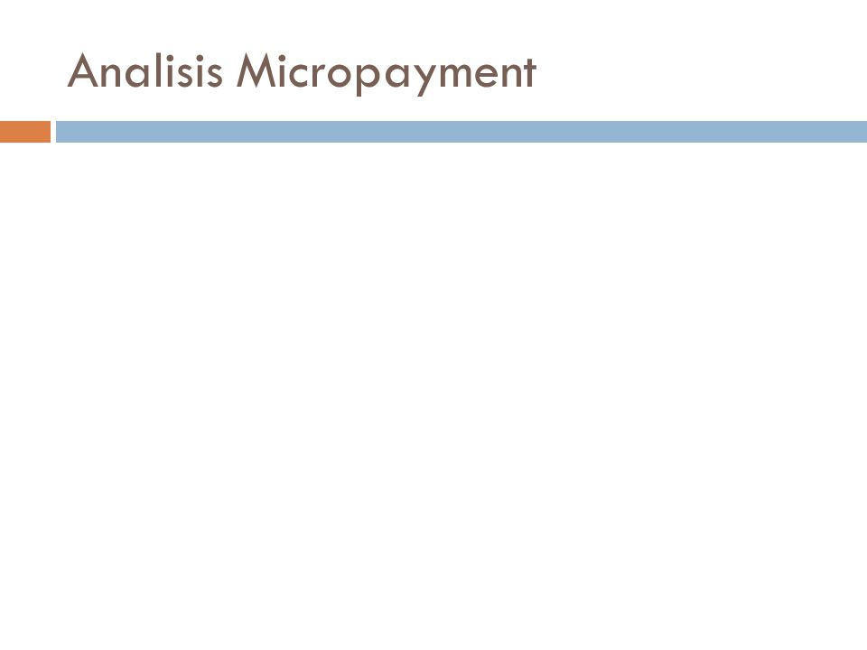 Analisis Micropayment