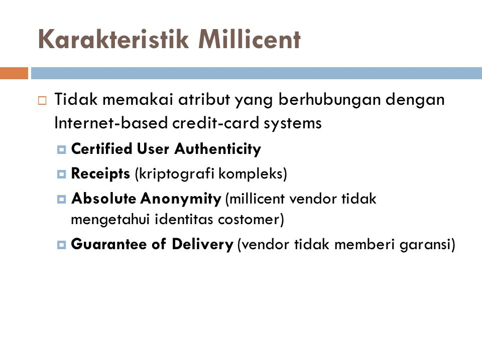 Karakteristik Millicent