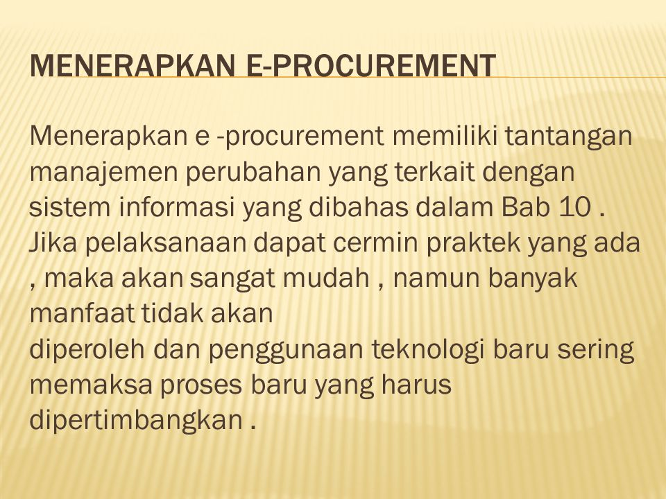 Menerapkan e-procurement