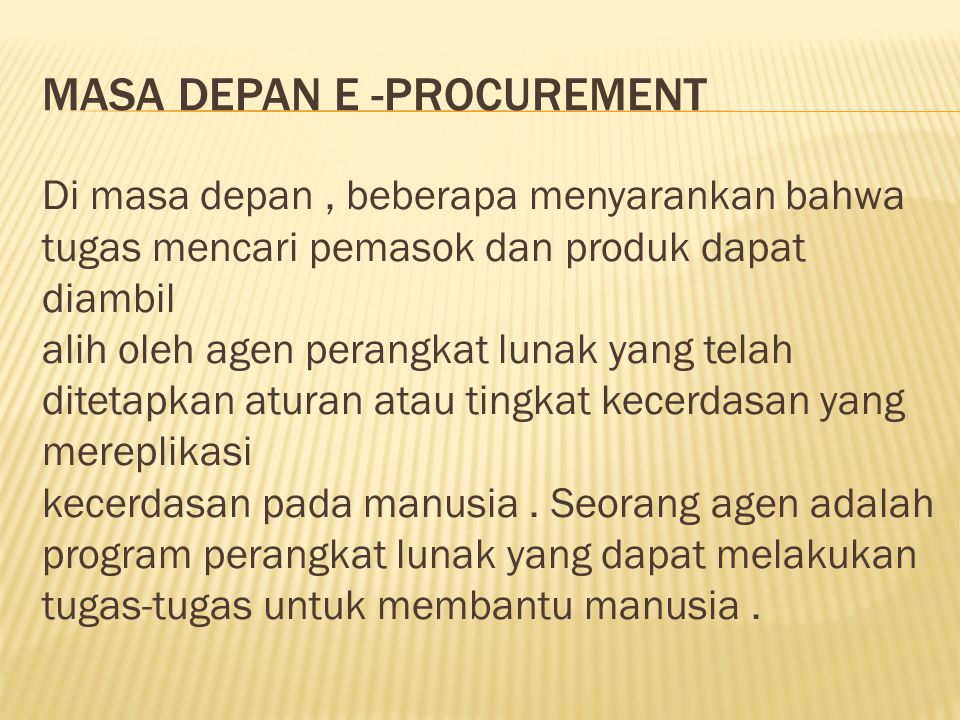 Masa depan e -procurement