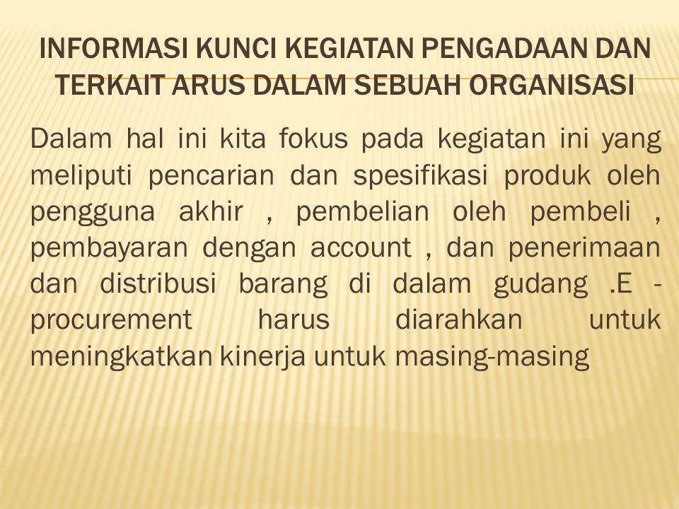Informasi kunci kegiatan pengadaan dan terkait arus dalam sebuah organisasi