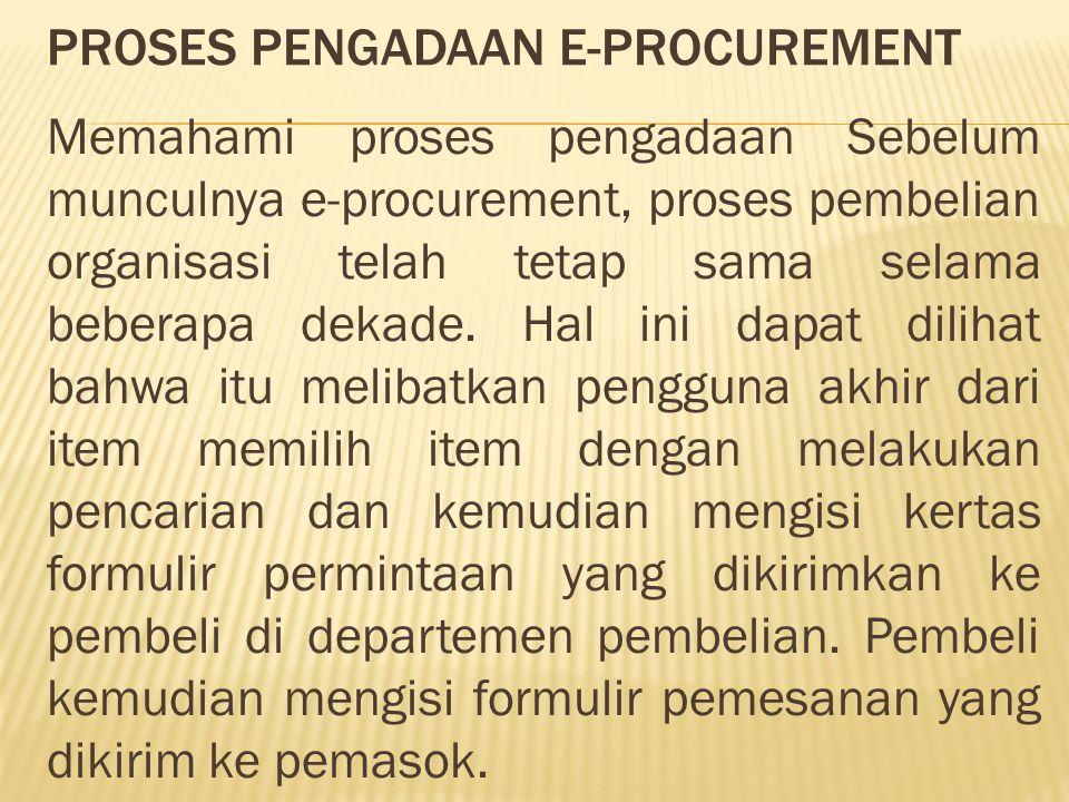 Proses pengadaan e-procurement