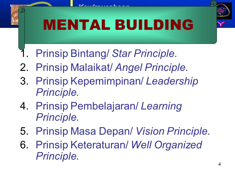 MENTAL BUILDING Prinsip Bintang/ Star Principle.