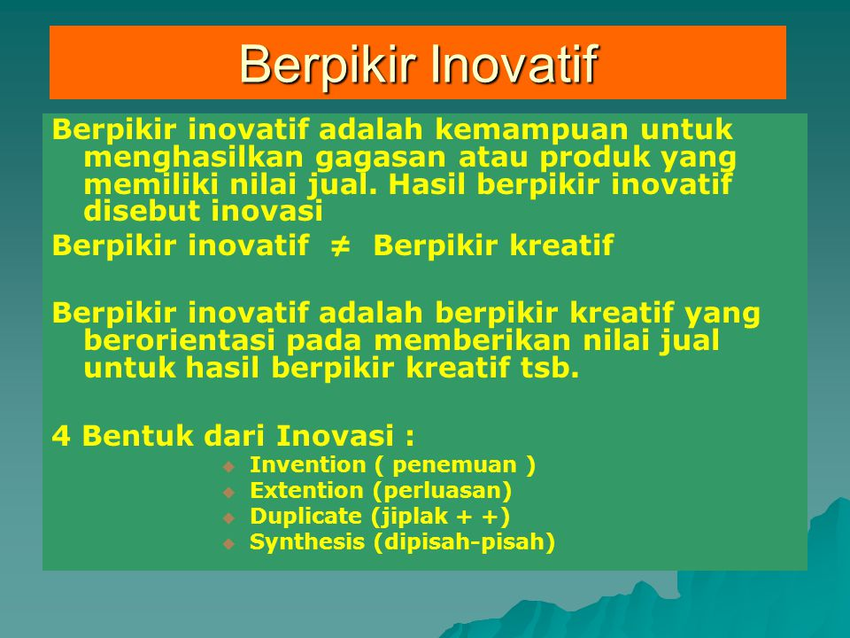 Berpikir Inovatif