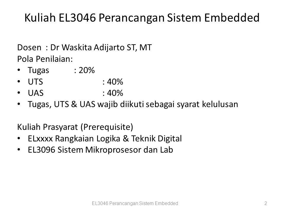 Kuliah EL3046 Perancangan Sistem Embedded