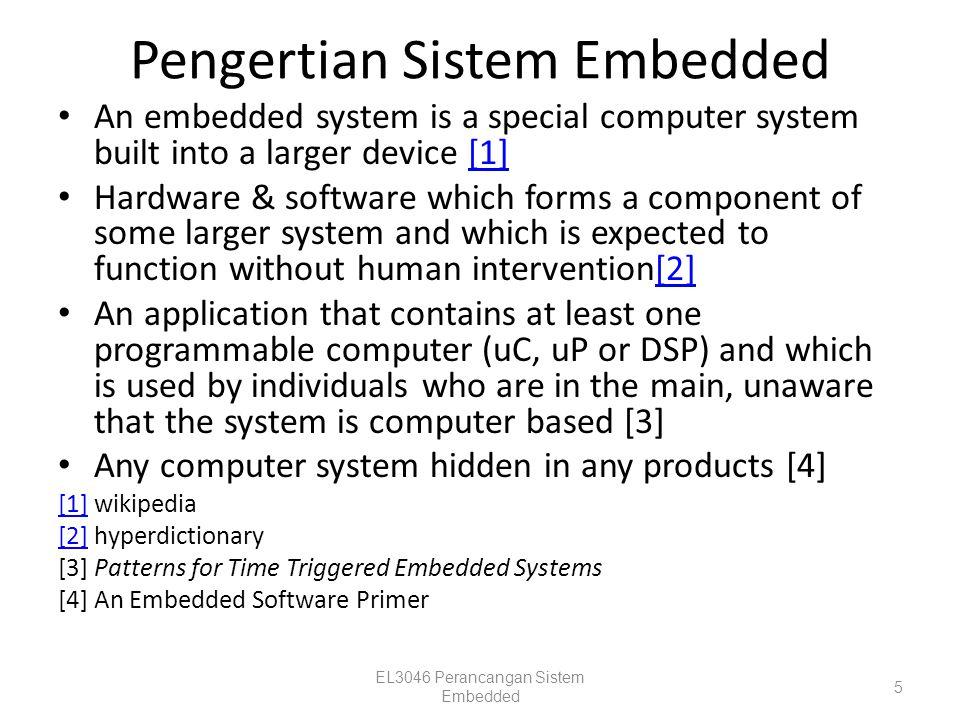 Pengertian Sistem Embedded
