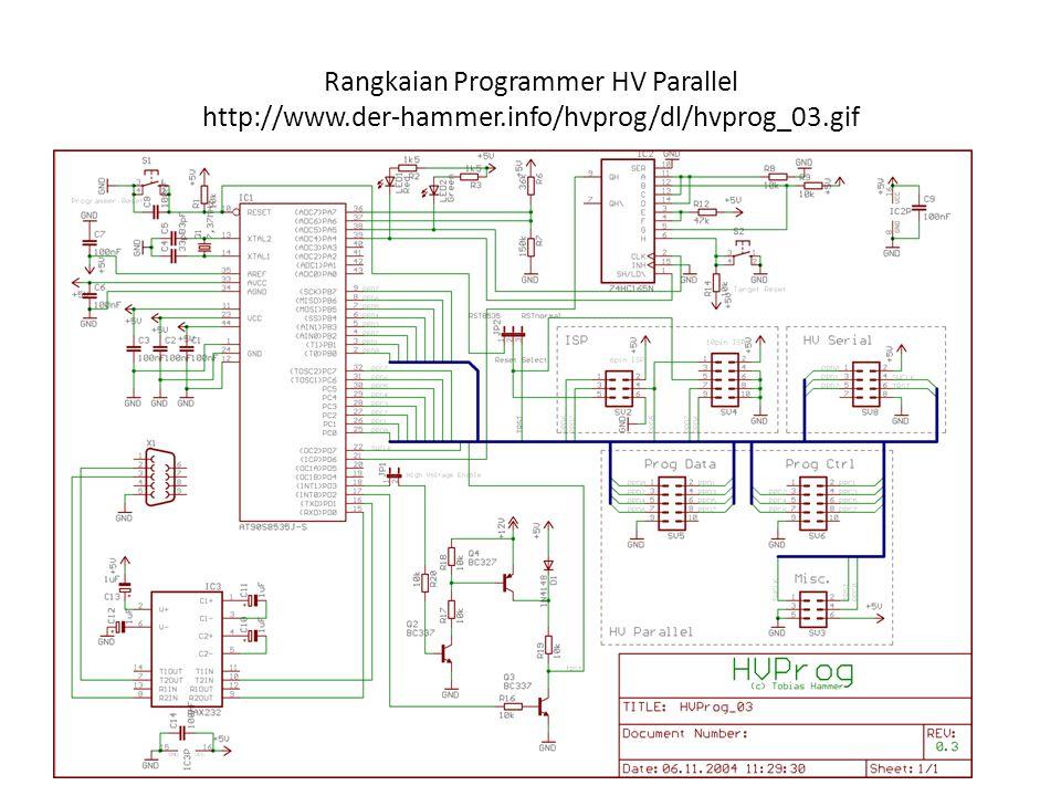 Rangkaian Programmer HV Parallel http://www. der-hammer