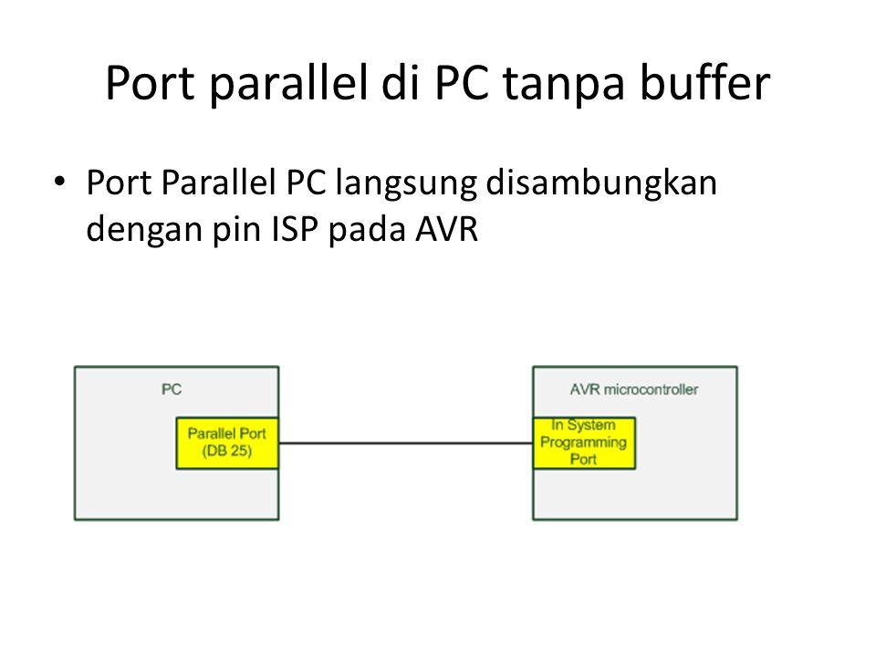 Port parallel di PC tanpa buffer