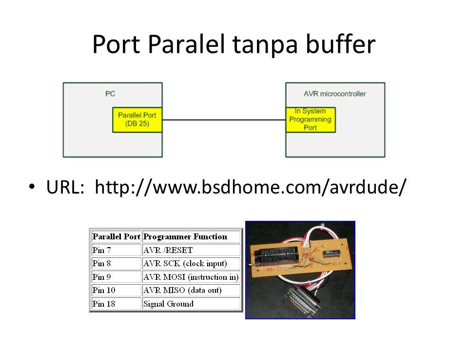 Port Paralel tanpa buffer
