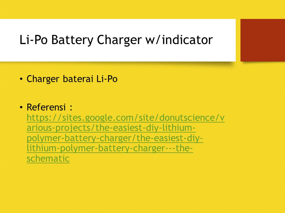 Li-Po Battery Charger w/indicator