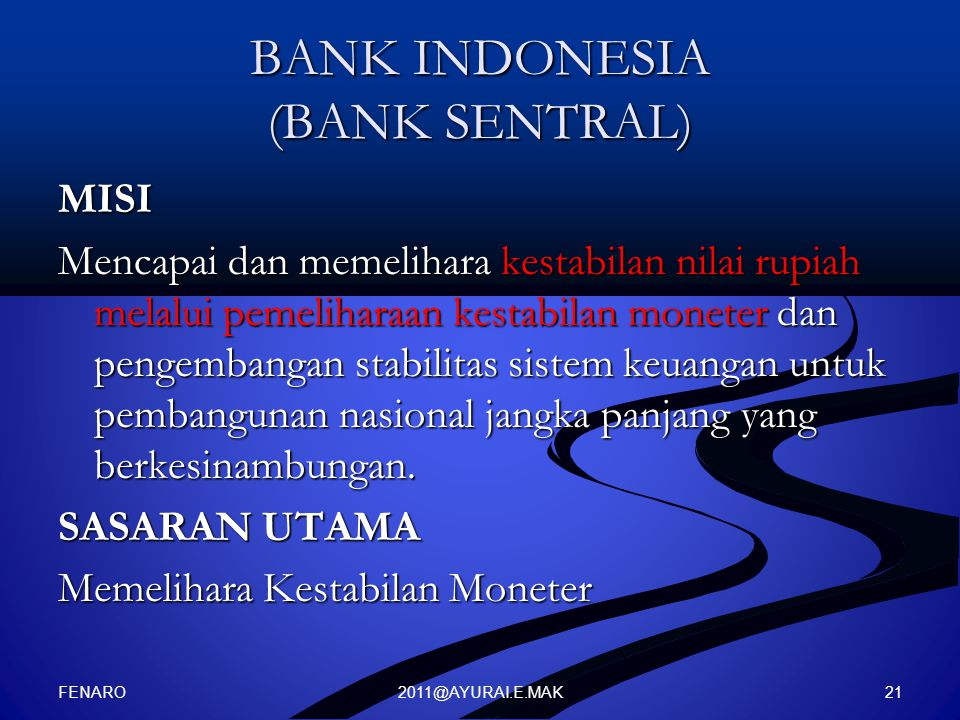 BANK INDONESIA (BANK SENTRAL)