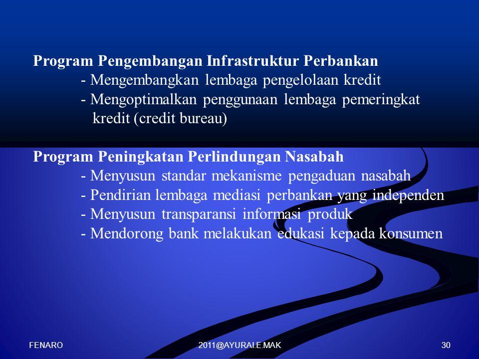 Program Pengembangan Infrastruktur Perbankan