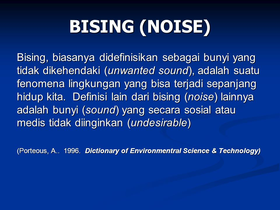 BISING (NOISE)