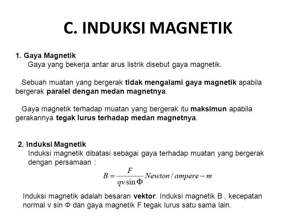 C. INDUKSI MAGNETIK 1. Gaya Magnetik