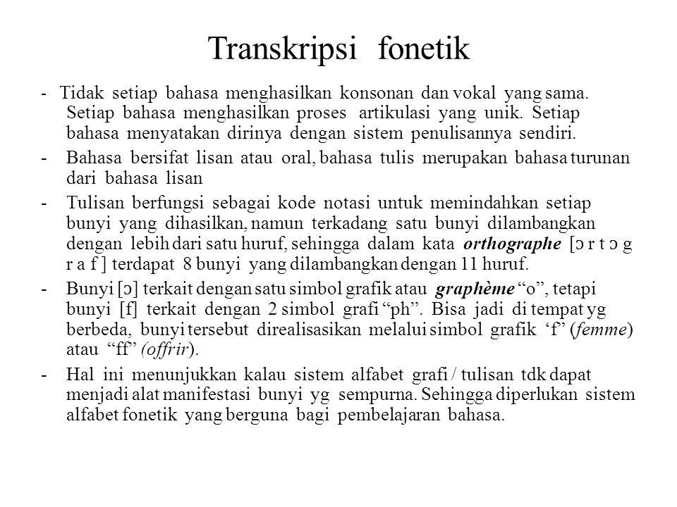 Transkripsi fonetik