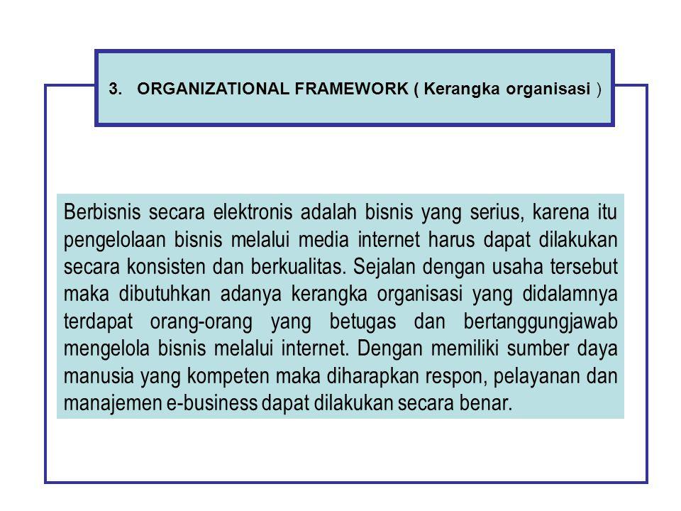 3. ORGANIZATIONAL FRAMEWORK ( Kerangka organisasi )